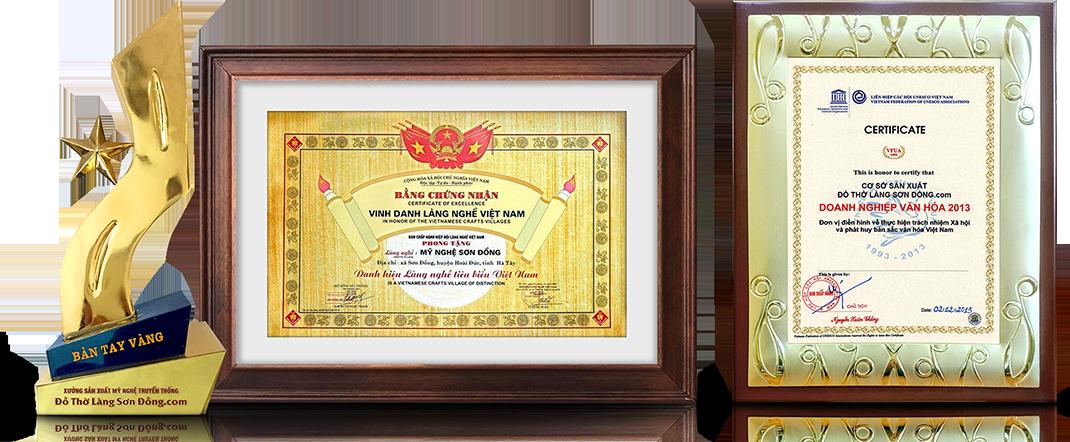 chứng nhận làng nghề Sơn Đồng