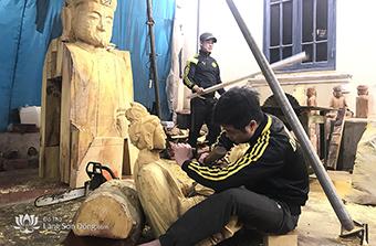Làng nghề Sơn Đồng - Đồ thờ bền đẹp, chạm khắc tinh xảo