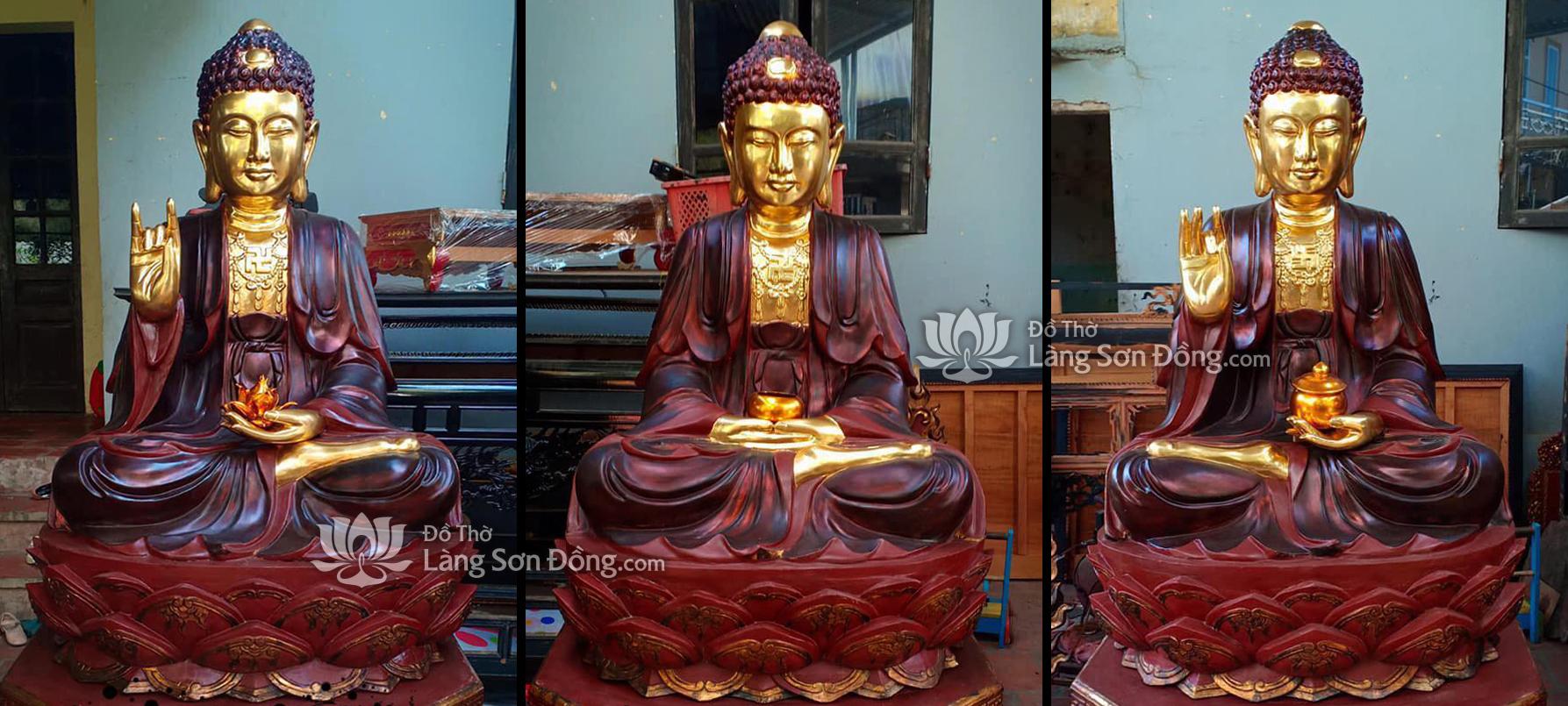 Tượng Tam thế Phật sơn giả cổ