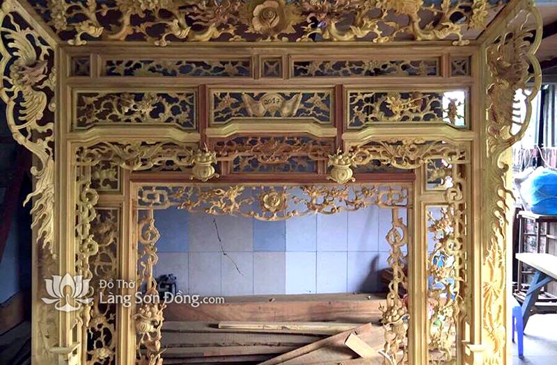 Cửa võng Thiều Châu cho ban thờ Gia tiên - Tư gia