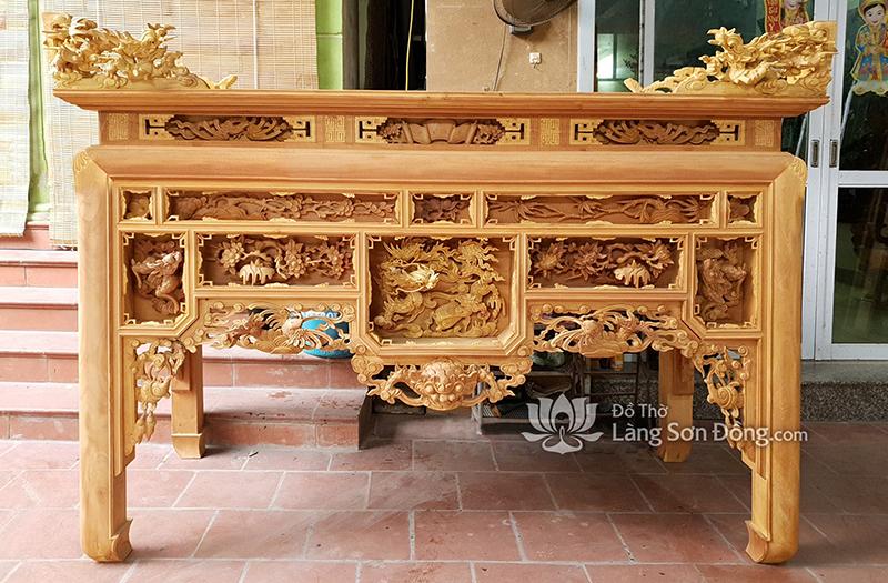 Các mẫu bàn thờ Ô Xa mộc và sơn hoàn thiện đẹp