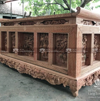 Bàn thờ Chấp Tải, gỗ Hương đá