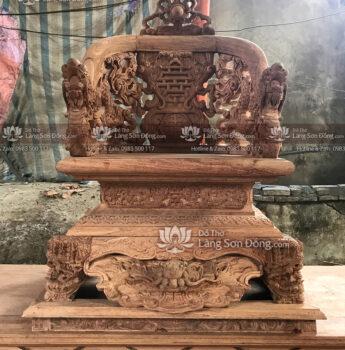 Ngai thờ Cửu Long gỗ Hương đá